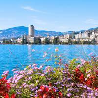 Uitzicht op Montreux