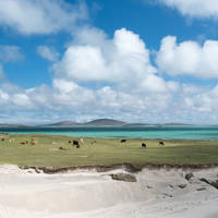 Isle of Uist - uitzicht op Isle of Berneray