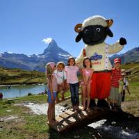 Kinderen in Zermatt