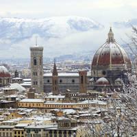 Florence met sneeuw
