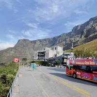 Hop on Hop off halte Tafelberg
