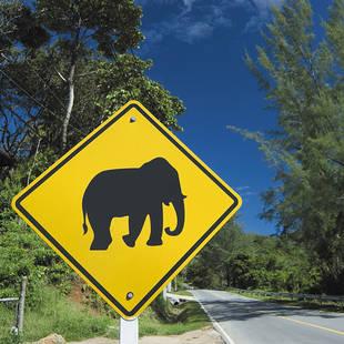 Verkeersbord in Thailand