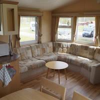 Stacaravan voorbeeld woonkamer