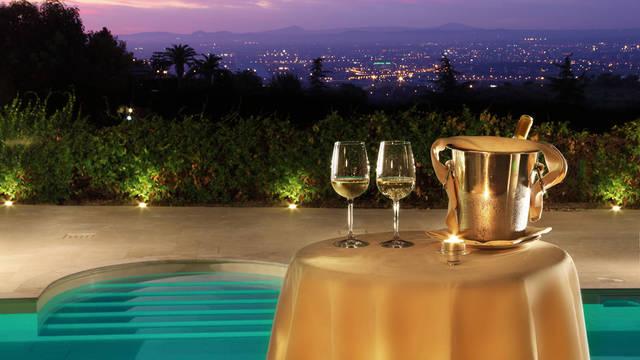 Uitzicht op Rome vanaf het terras Hotel Villa Mercede