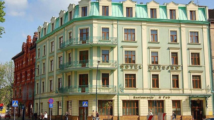 Voorzijde Hotel Matejko