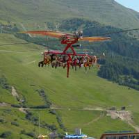 Vliegen boven Serfaus