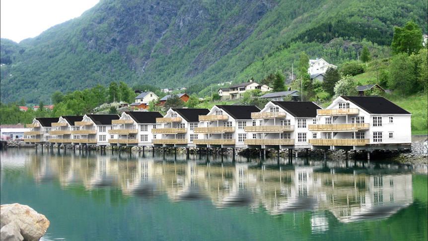 Exterieur appartementen Skjolden Brygge Vakantiewoningen