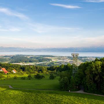 Uitzicht richting Bodensee Landhotel Krone