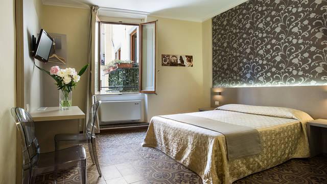Tweepersoonskamer Hotel Albergo Firenze