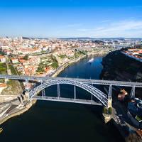 Dom Luis brug in Porto
