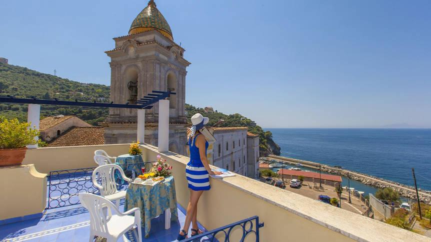 Uitzicht vanaf het terras Hotel Piccolo Paradiso