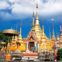 Tempel Phra Boromthat in Tak