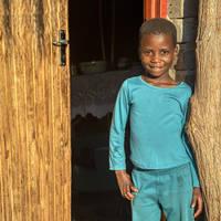 Vrolijk Zuid-Afrikaans kind