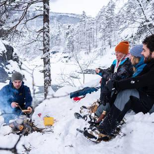 Sneeuwschoenwandelen - pauze