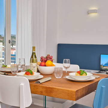 Voorbeeld woonkamer Residence Hotel Porto San Paolo