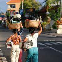 Straatbeeld van Yogyakarta