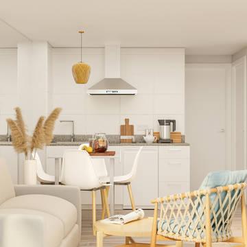 Voorbeeld woonkamer - keuken Appartementen Venecia