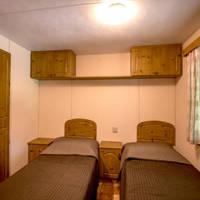 Voorbeeld stacaravan type B slaapkamer