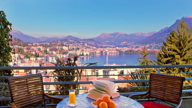 Uitzicht vanuit hotel Parco Paradiso