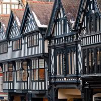 Chester, Cheshire - gebouwen in trudorstijl
