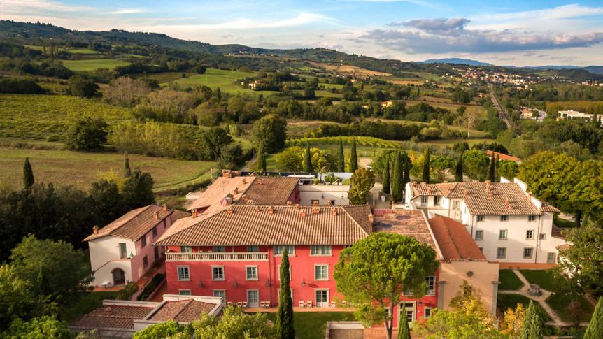 Bovenaanzicht Relais Villa Il Palagio