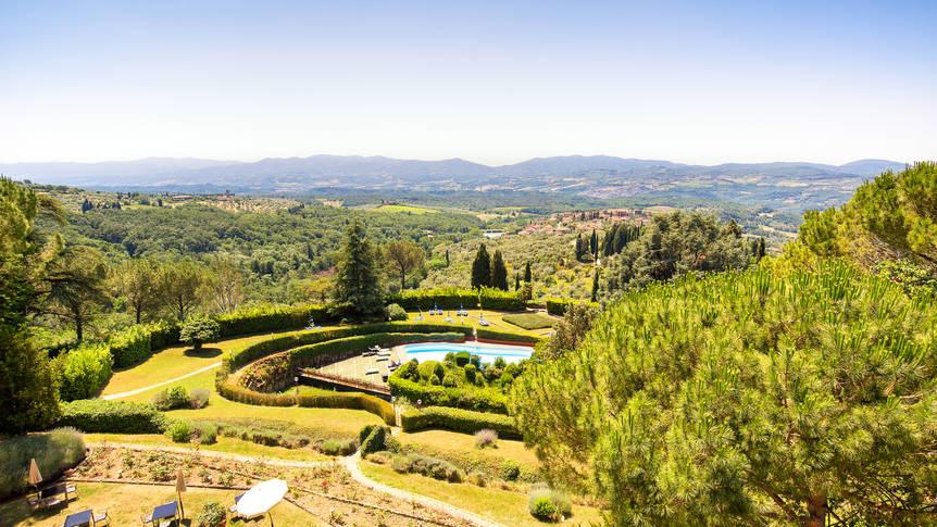 Uitzicht Villa Pitiana