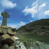 Keltisch kruis in Connemara