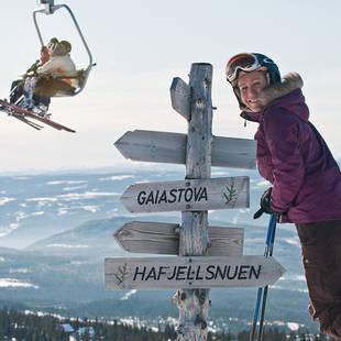 Skilift en bewegwijzering