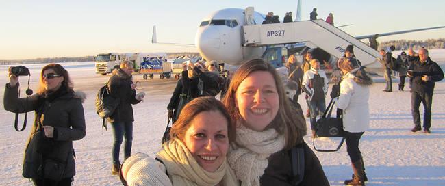 Aankomst Fins Lapland