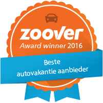 Winnaar Zoover Awards categorie Autovakantie