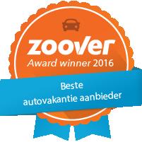 Winnaar Zoover Awards categorie Autovakantie